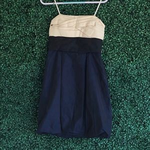 BCBMAXazria  navy blue sleeveless dress